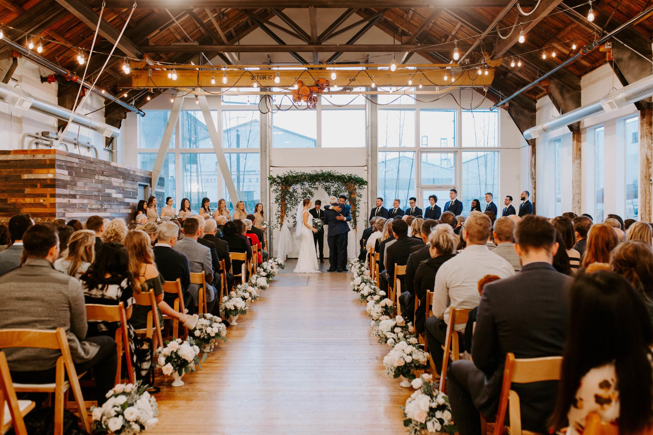 indoor seattle winter wedding photography