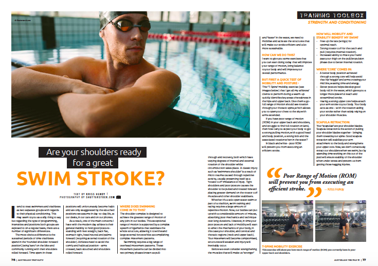 Are your Shoulders ready for a great Swim Stroke? -
