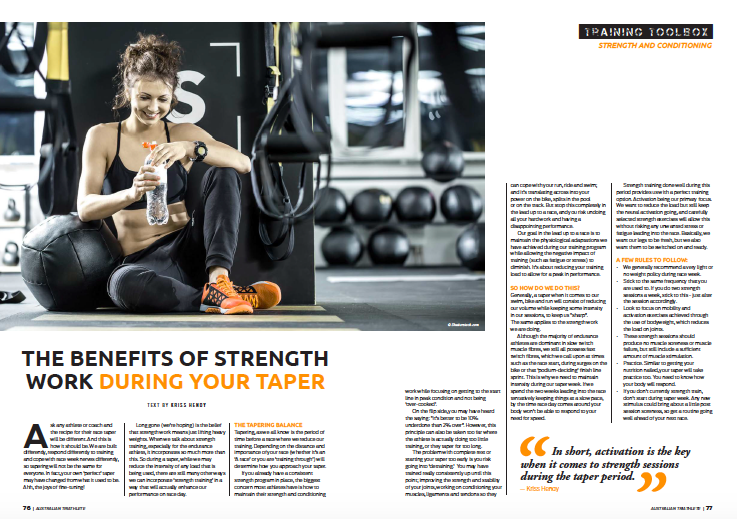 Strength Work During your Taper -