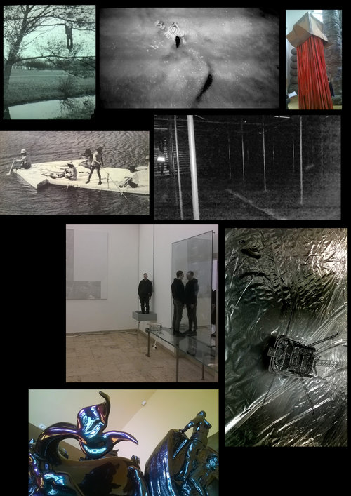 PAGE 2. – ( CLICK ON IMAGE) – Bas Jan Ader, 'Broken Fall',film, 1971 at Arsenale sheds // Tang Nannan, 'Phonixalis – Bird of Wonder', video, 2013, China Pavilion // Phyllida Barlow, 'Folly', installation, 2017, British Pavilion // The Play, 'Current of Contemporary Art', photograph, 1969 // Giorgio Andretta Calò, 'Untitled (The End of the World)', scaffolding and water installation, 2017, Italian Pavilion // Anne Imhof, 'Faust', performance, 2017, German Pavilion // Takahiro Iwasaki, 'Out of Order (Offshore Model)', plastic sheet, disposable bento box, straw, rubber band, plastic bottle, table, 2017, Japan Pavilion // Shezad Dawood, 'Where do we go now?', resin and polychromatic paint, 2017, Leviathan at Palazzina Canonica.