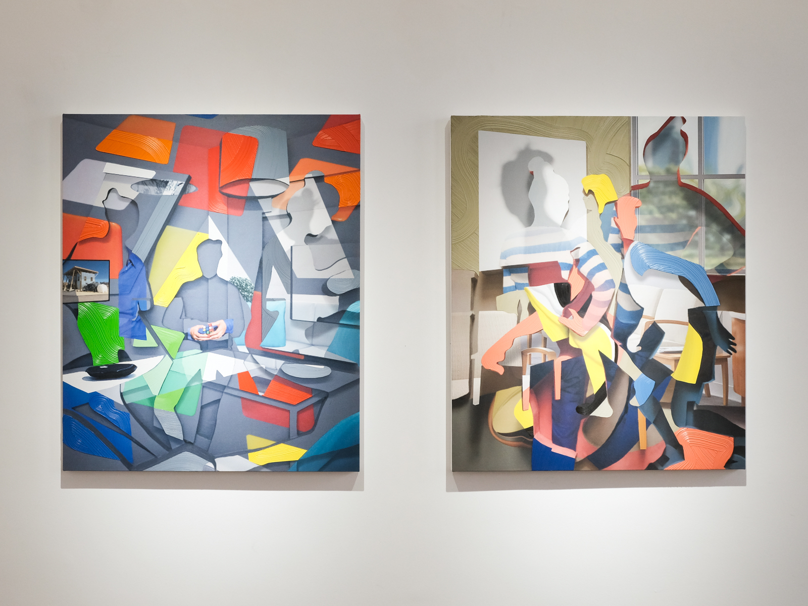 Right: Pieter Schoolwerth,  Off the Grid#6;  Left:Pieter Schoolwerth, P rivacy Settings#7