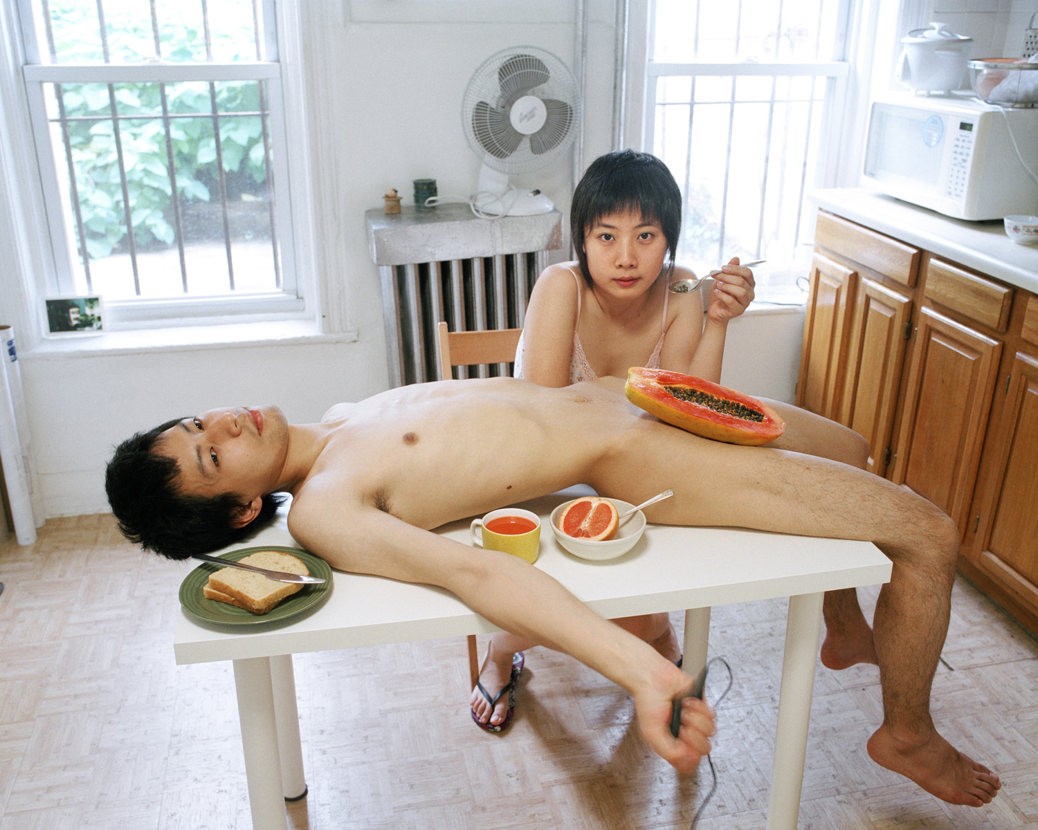 Pixy Liao,  Start your day with a good breakfast together  (2009), from the series  Experimental Relationship , courtesy of the artist