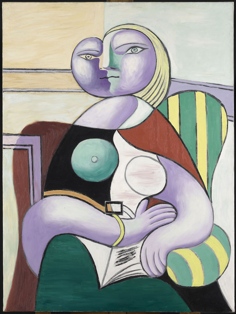 Reading , Boisgeloup, January 2, 1932 Oil on canvas 130 x 97,5cm Musée national Picasso-Paris © Succession Picasso 2019