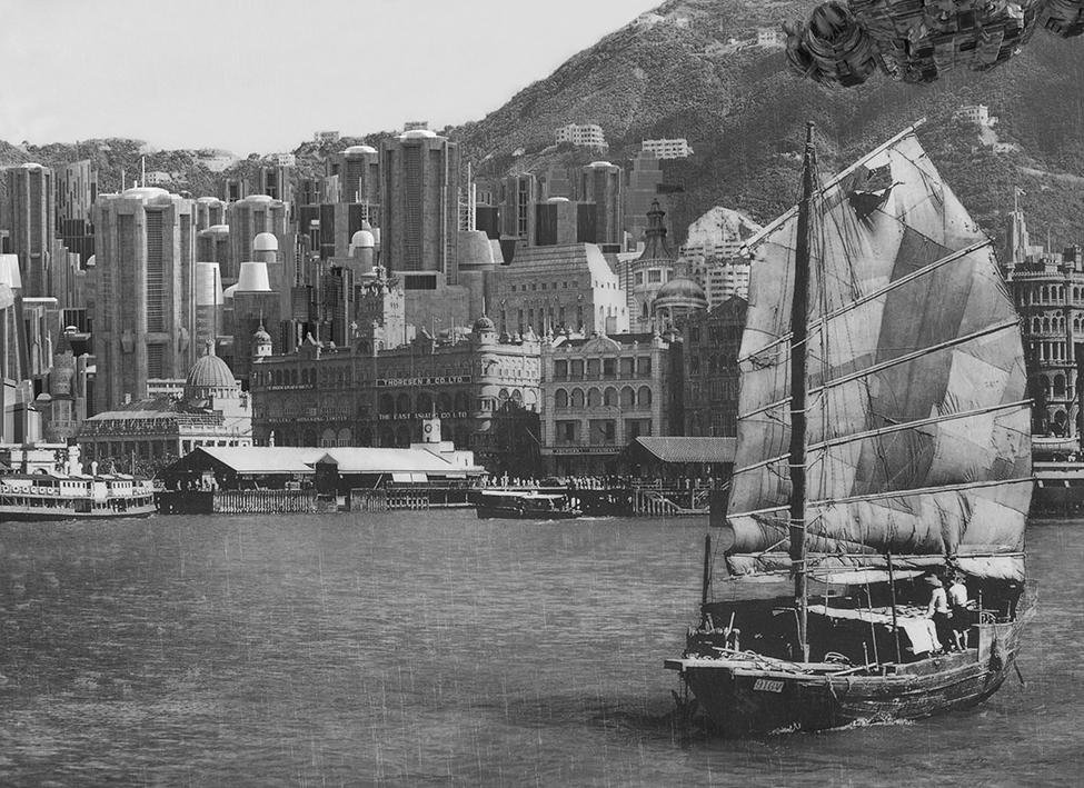 刘卫,《Victoria Harbour 00S》 ,132 cm x 96.5 cm x 10 cm,灯片,LED灯箱,2018年。图片由艺术家提供。