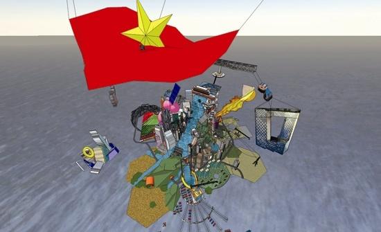 《人民城寨》2007-2011  《人民城寨》是第二人生网络世界的一个虚拟的艺术社区,源自曹斐(第二人生的化身:中国·翠西)发起的创意公共平台。该项目于2008年底正式启动,经过两年的发展,将在国际领先的艺术机构和网络的参与和支持下继续发展和变化。该虚拟城市涵盖了艺术,设计,建筑,文学,电影,政治,经济,社会等中国当代城市特征的新城。