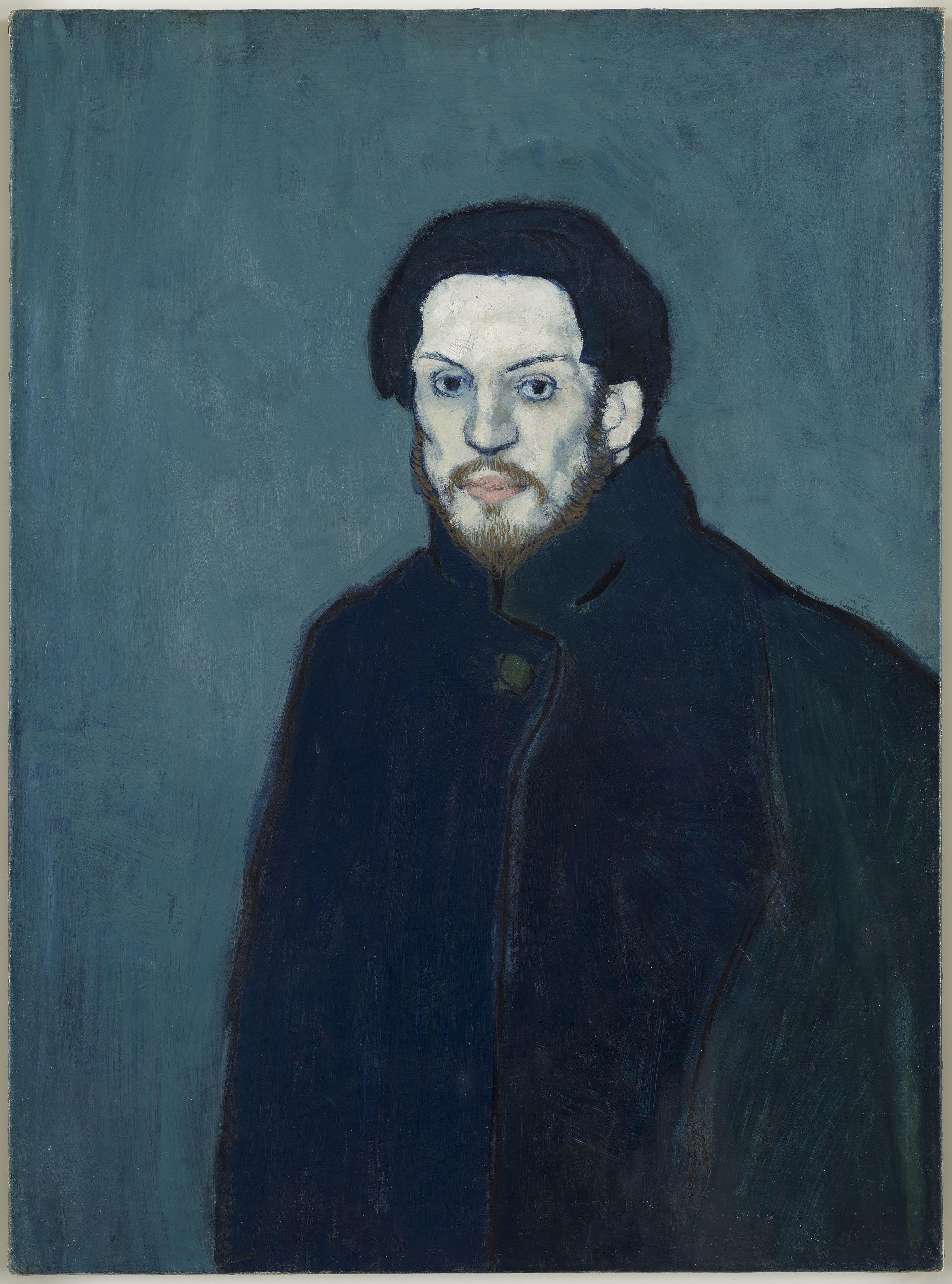 Picasso,  Autoportrait , Paris, fin 1901 © Succession Picasso 2019