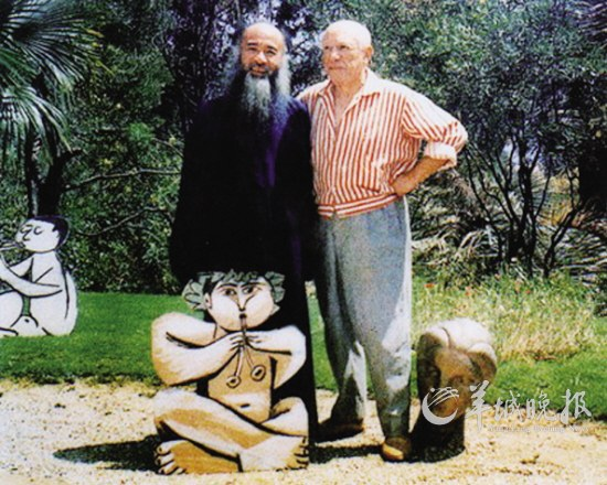 Zhang Daqian et Picasso (juillet 1956)