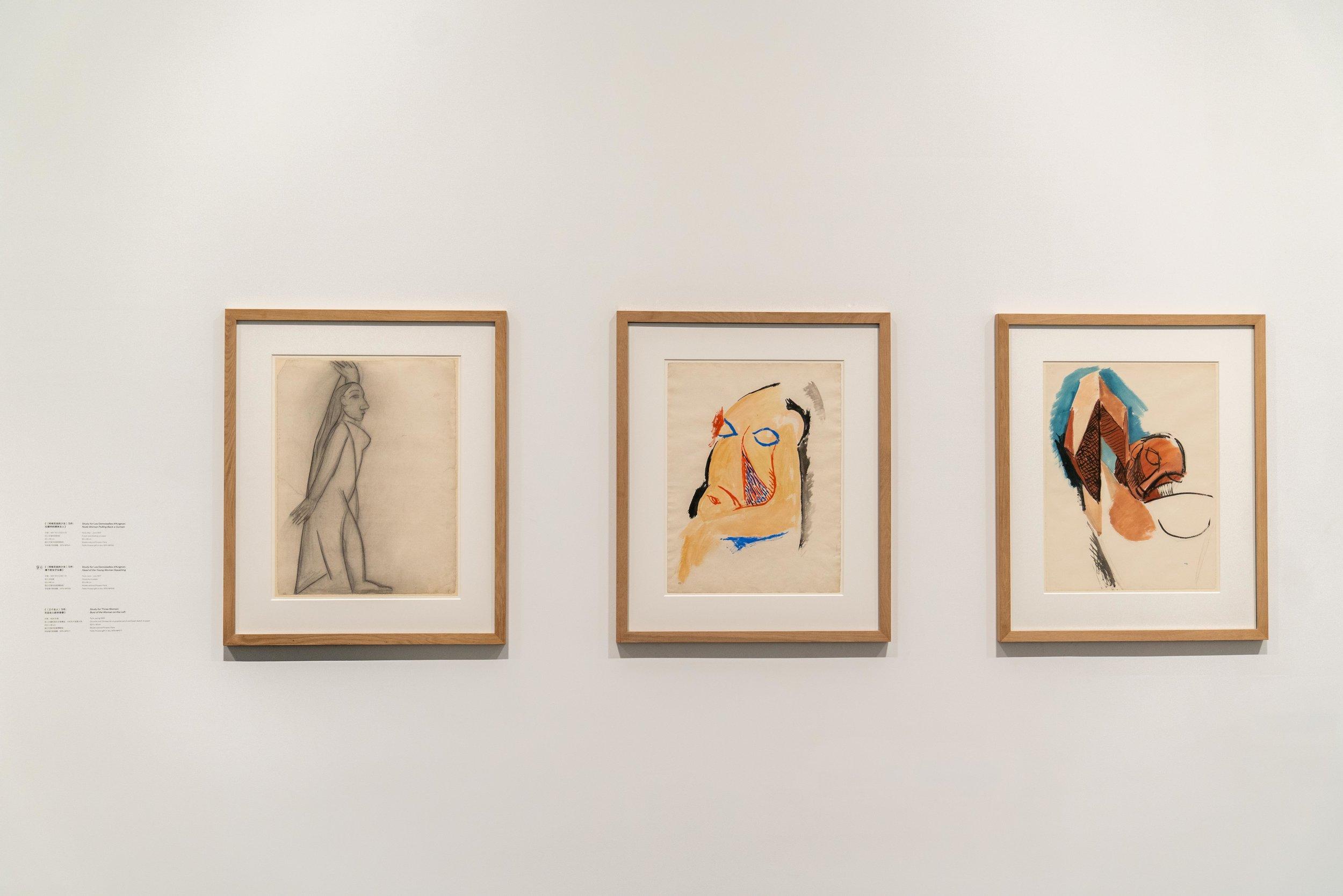 Études pour  Les Demoiselles d'Avignon    Paris, Juin - Juillet 1907 Musée national Picasso-Paris  © Succession Picasso 2019