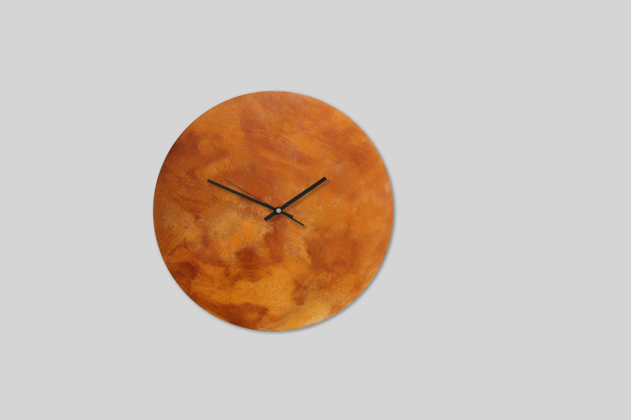 New In - Corten Steel Wall Clocks are made from a specially coated and then rusted and lacquered steel. Every clock has a distinctive look and is unique.