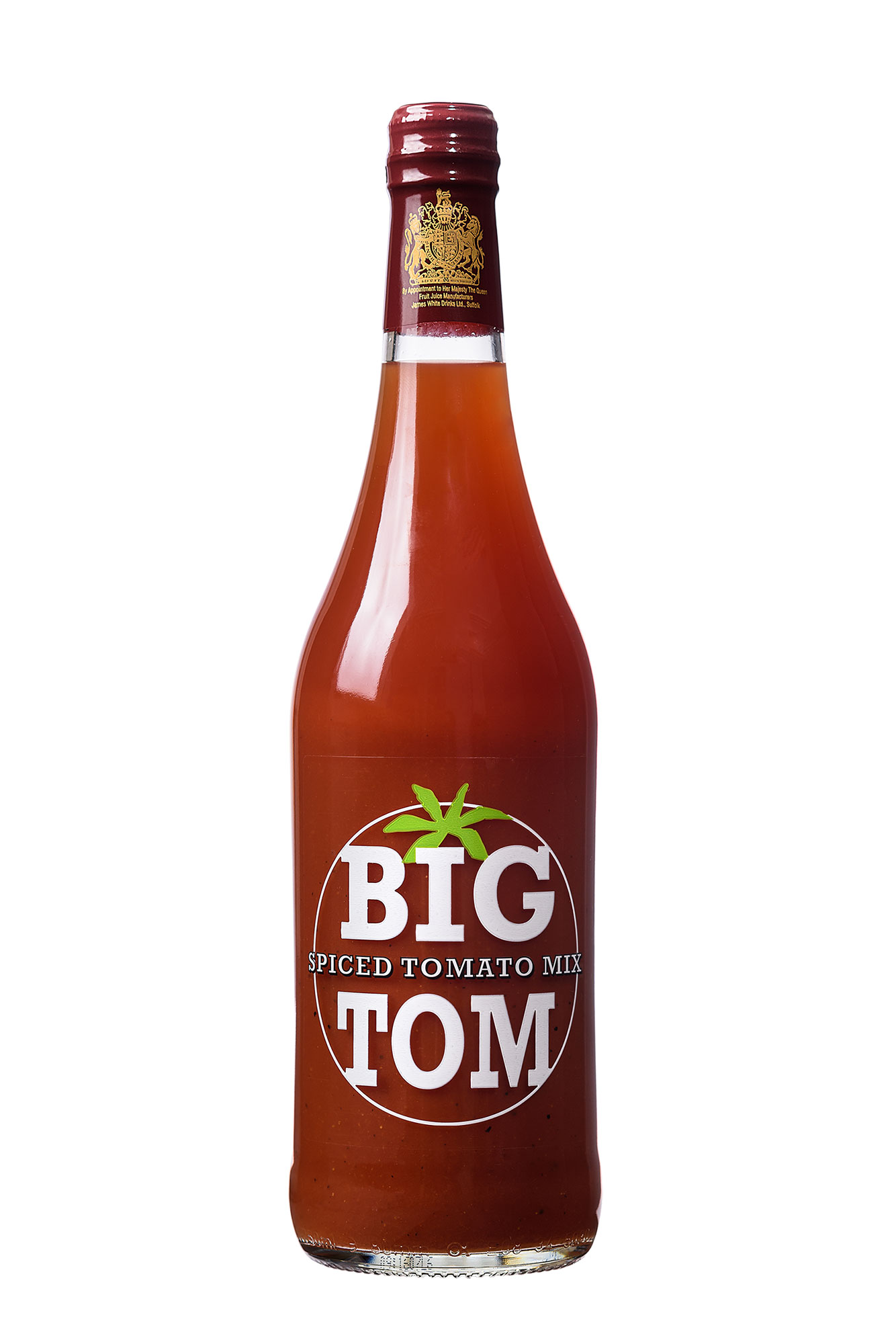 Big Tom 750ml Glass Bottle - When you just can't get enough Big Tom, our 750ml bottle is the ideal size for a good flow of spicy tomato mix.