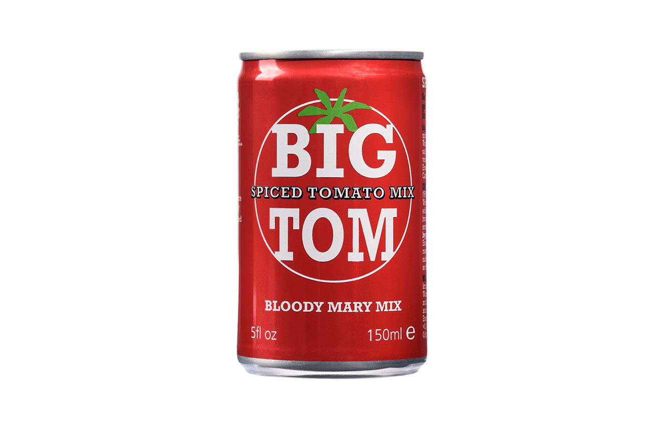 Big Tom 150ml Can - The ultimate single serve Bloody Mary Mix!Find our Big Tom can on British Airways, EasyJet and Emirates.