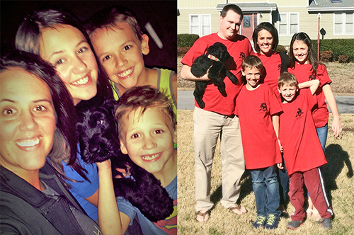 Addie (Guardian Bears Aphrodite the Mighty) at home with her loving family in Tennessee