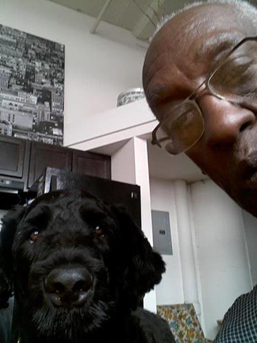 Niko (Guardian Bears American Dreamer) and daddy Jonathan doing a selfie