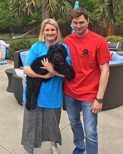 Guardian Bears Carolina Queen (Mya) with her new mom and dad