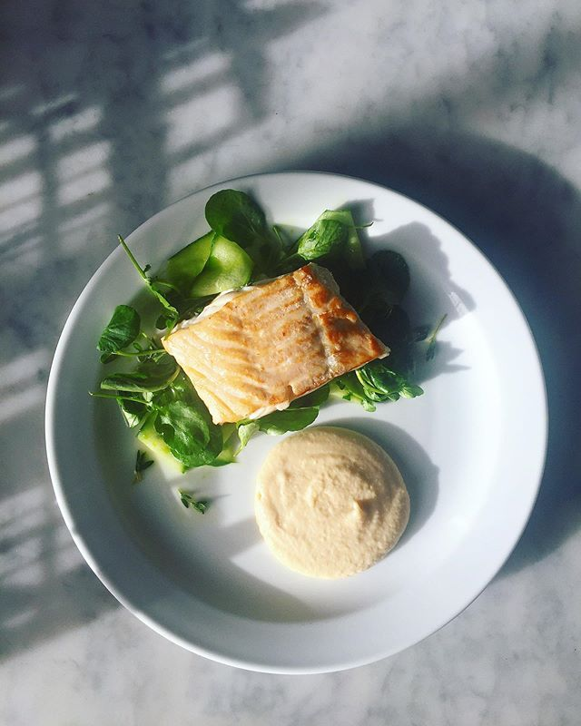 🐠🐠🐠 New Dish 🐠🐠🐠 - Roast Cod, Celeriac Puree, Cucumber & Land Cress 🌱🍴🌱 - On the menu ALL weekend, DM us to book or call 01843 210116 📞 📚