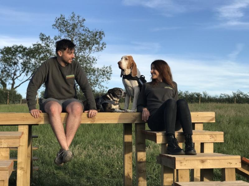 Katie Guastapaglia and Ruben Guastapaglia from Dogwood Adventure Play Secure Enclosed Dog Field Darlington Stockton Teesside