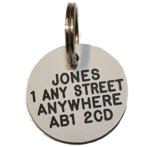 Surname and address including postcode - that's all you need to stay legal.