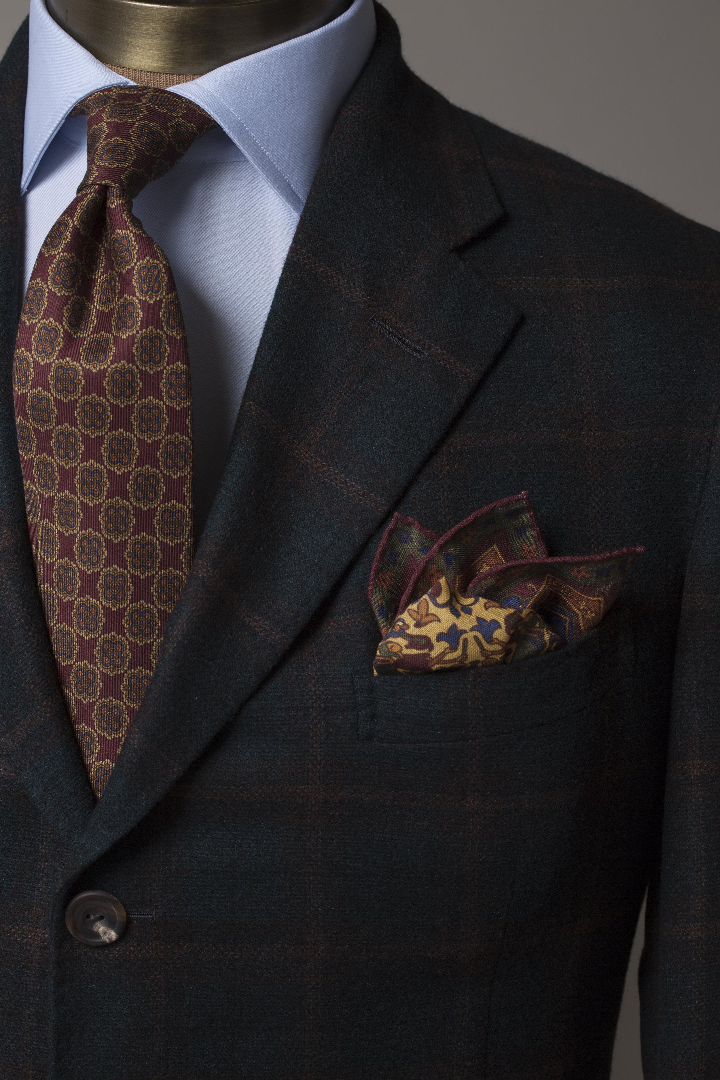 Fall Italian Wool Suit Lapel