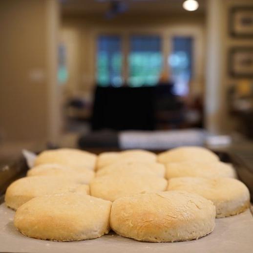 Homemade Buttermilk Biscuits & Gravy -