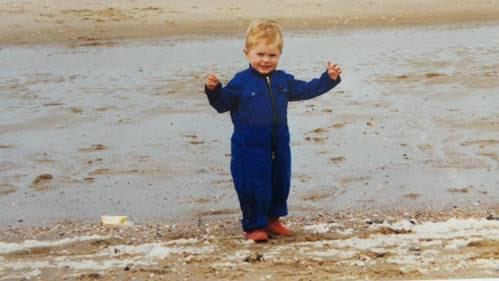 Me as a little boy on the beach