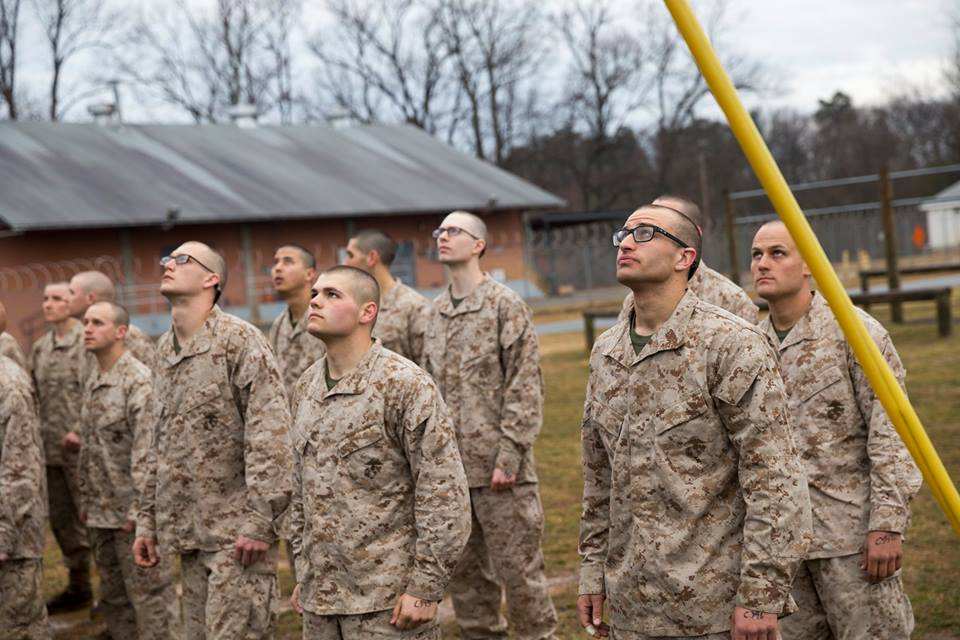 Just before the OCS Endurance Course during the first three months of being in the military.