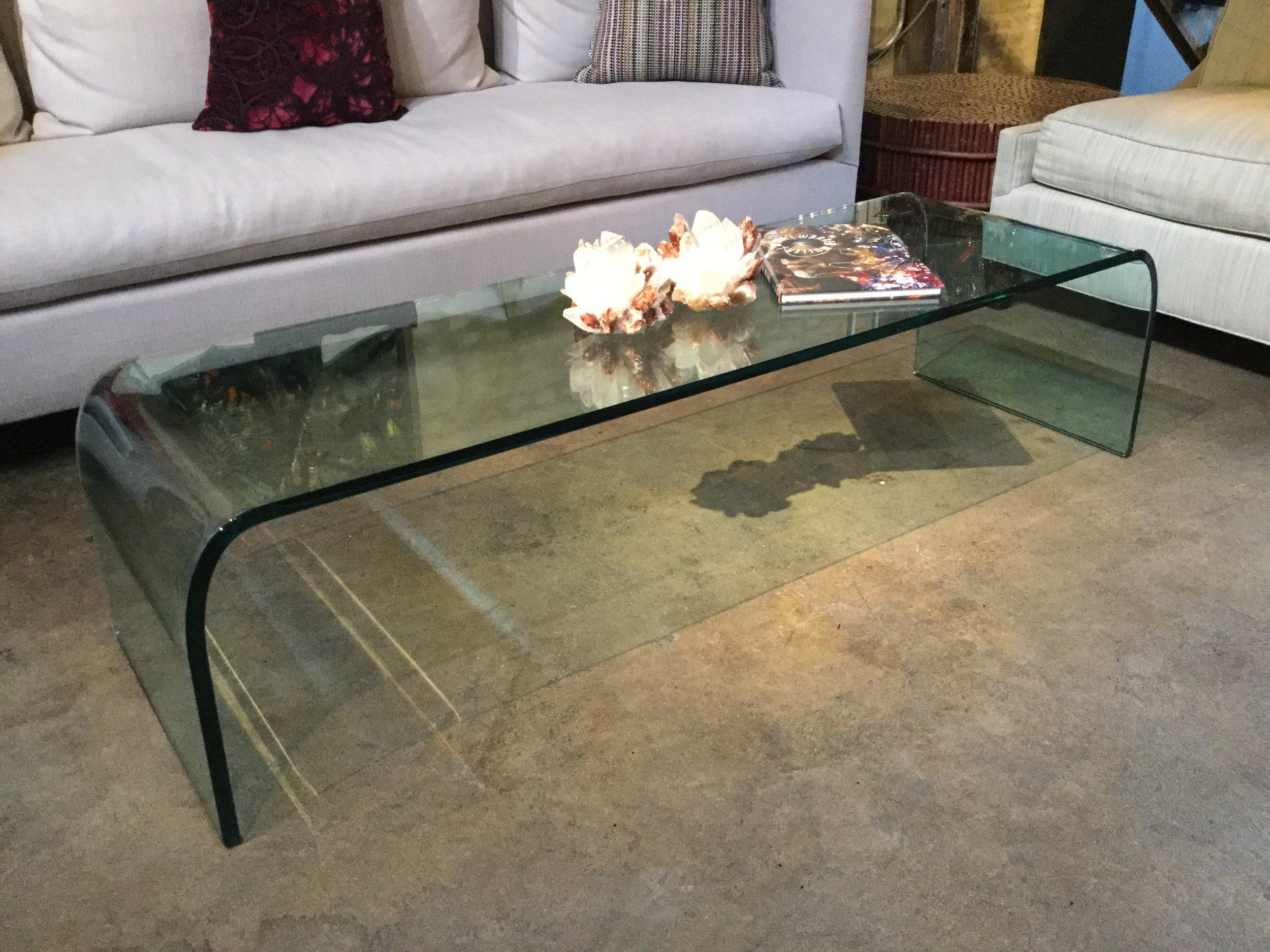 Fiam Glass Coffee Table $500.00