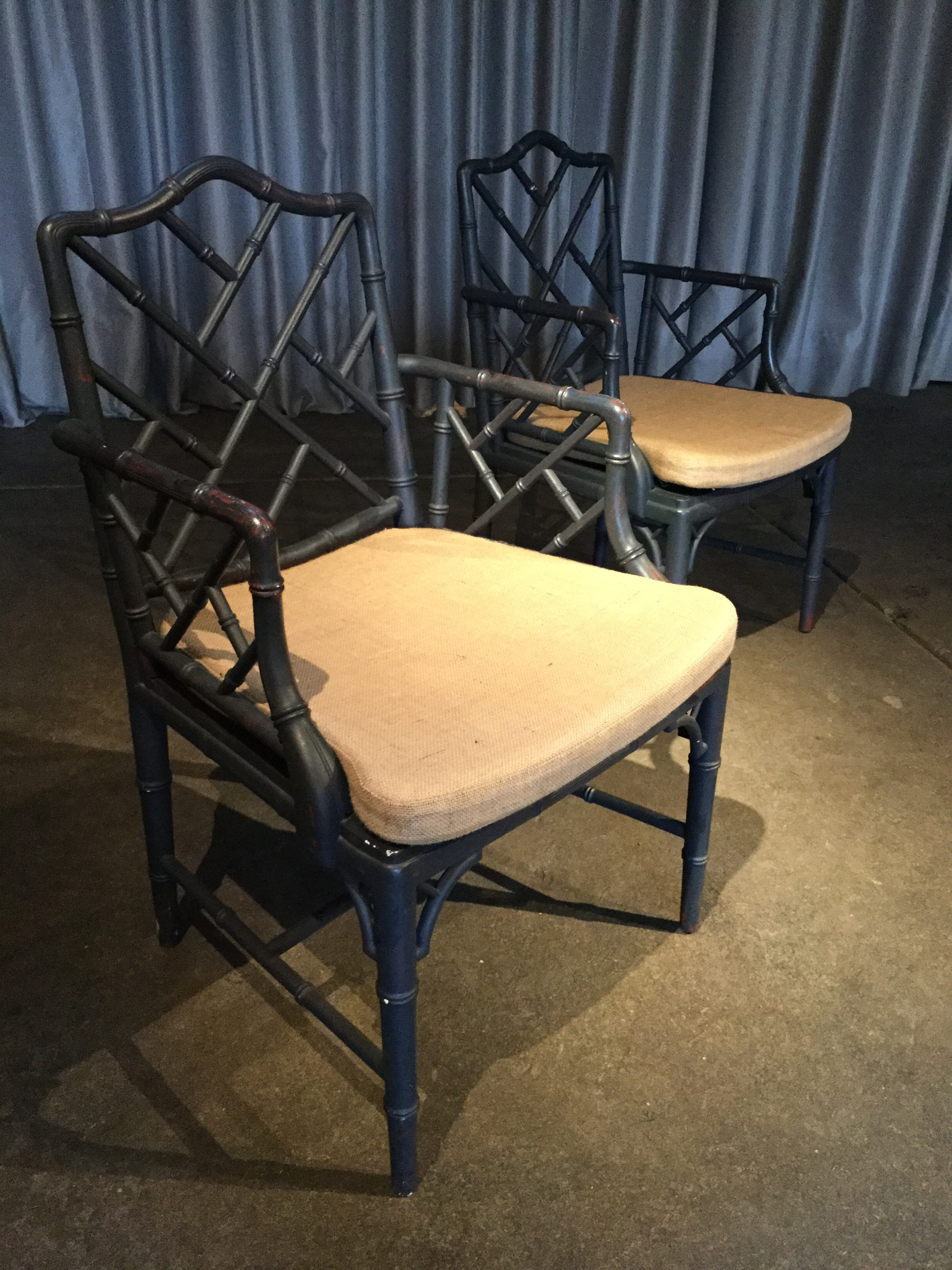 Vintage Chinese Chippendale Chairs $700.00
