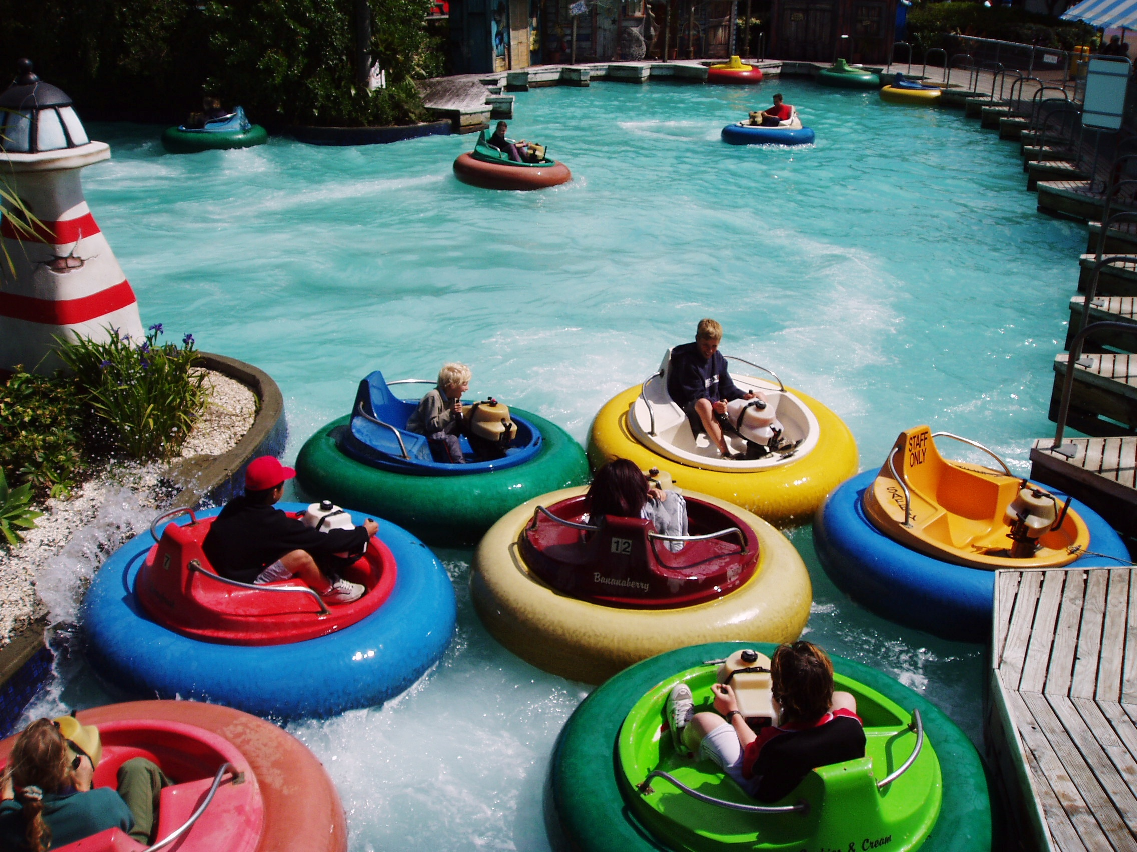 Bumper boats at Rainbow's End.