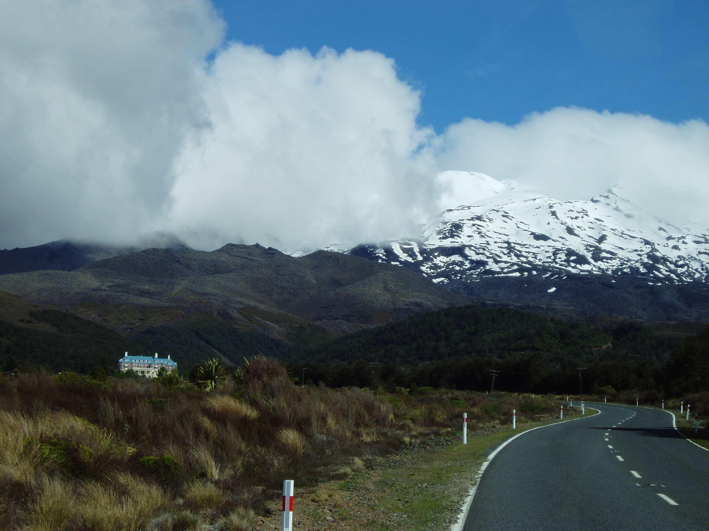 Grand Chateau and Mount Ruapehu