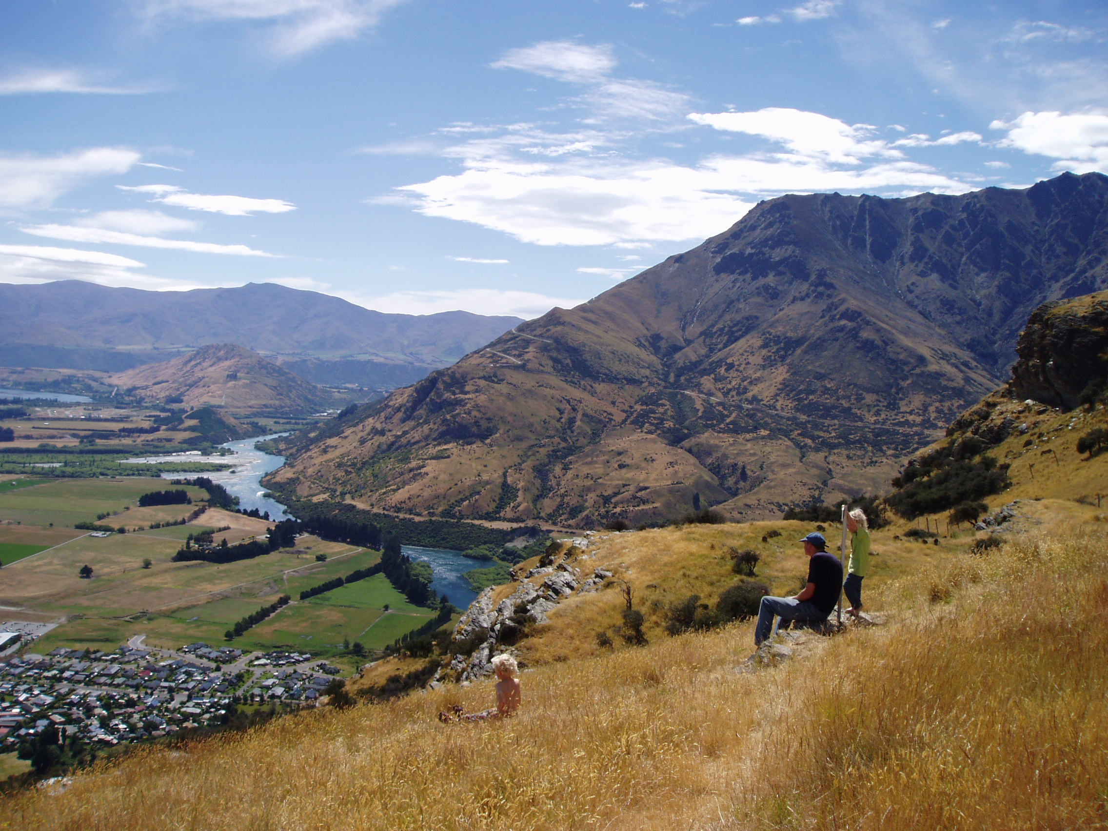 Looking down over Queenstown.