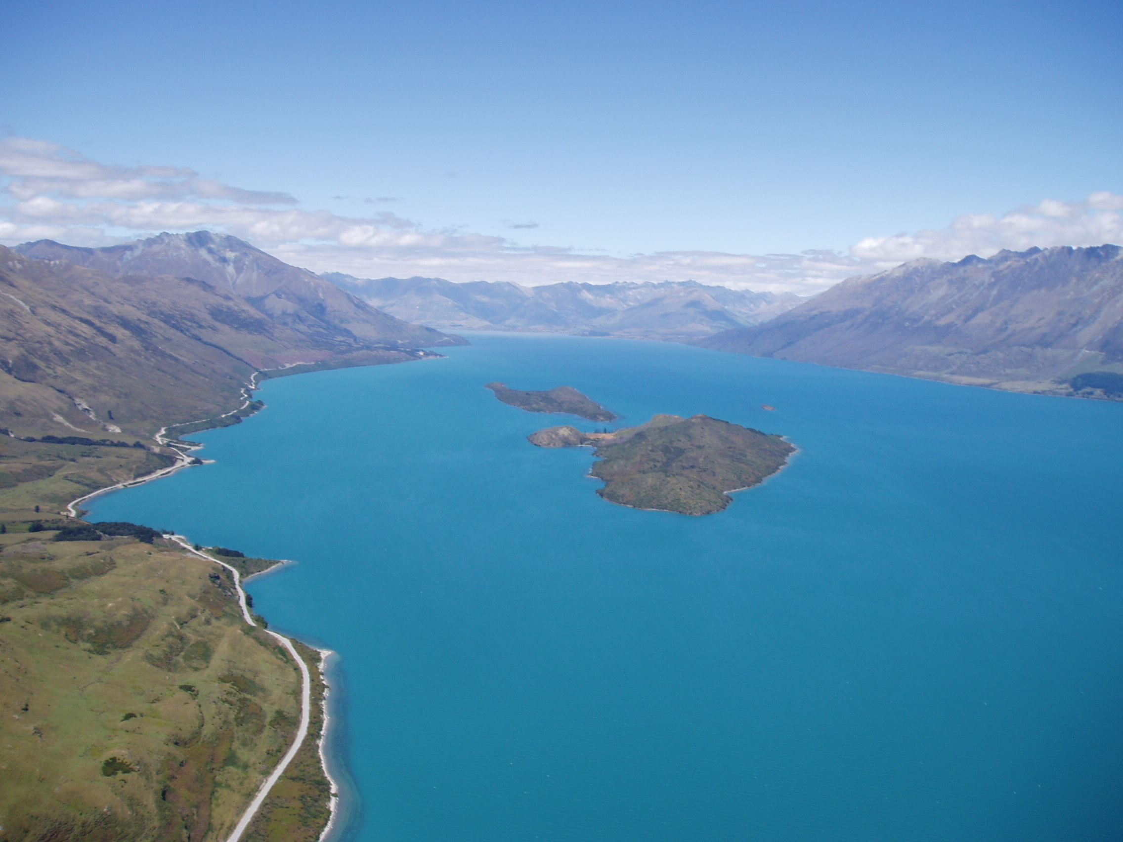 Lake Wakatipu with Pig and Pigeon Islands.