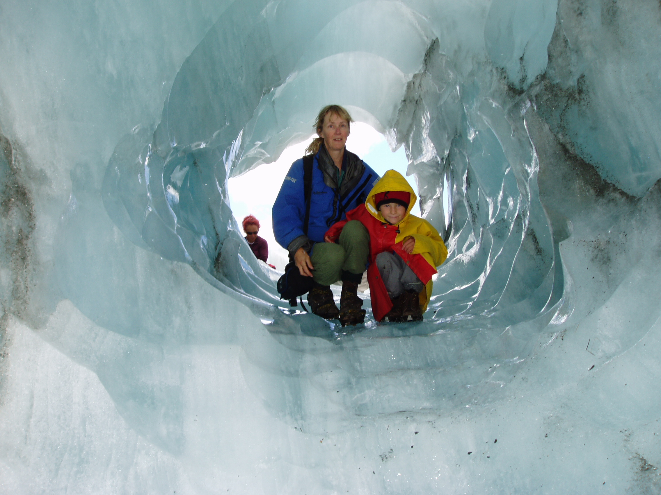 Ice tunnel, Franz Josef Glacier.