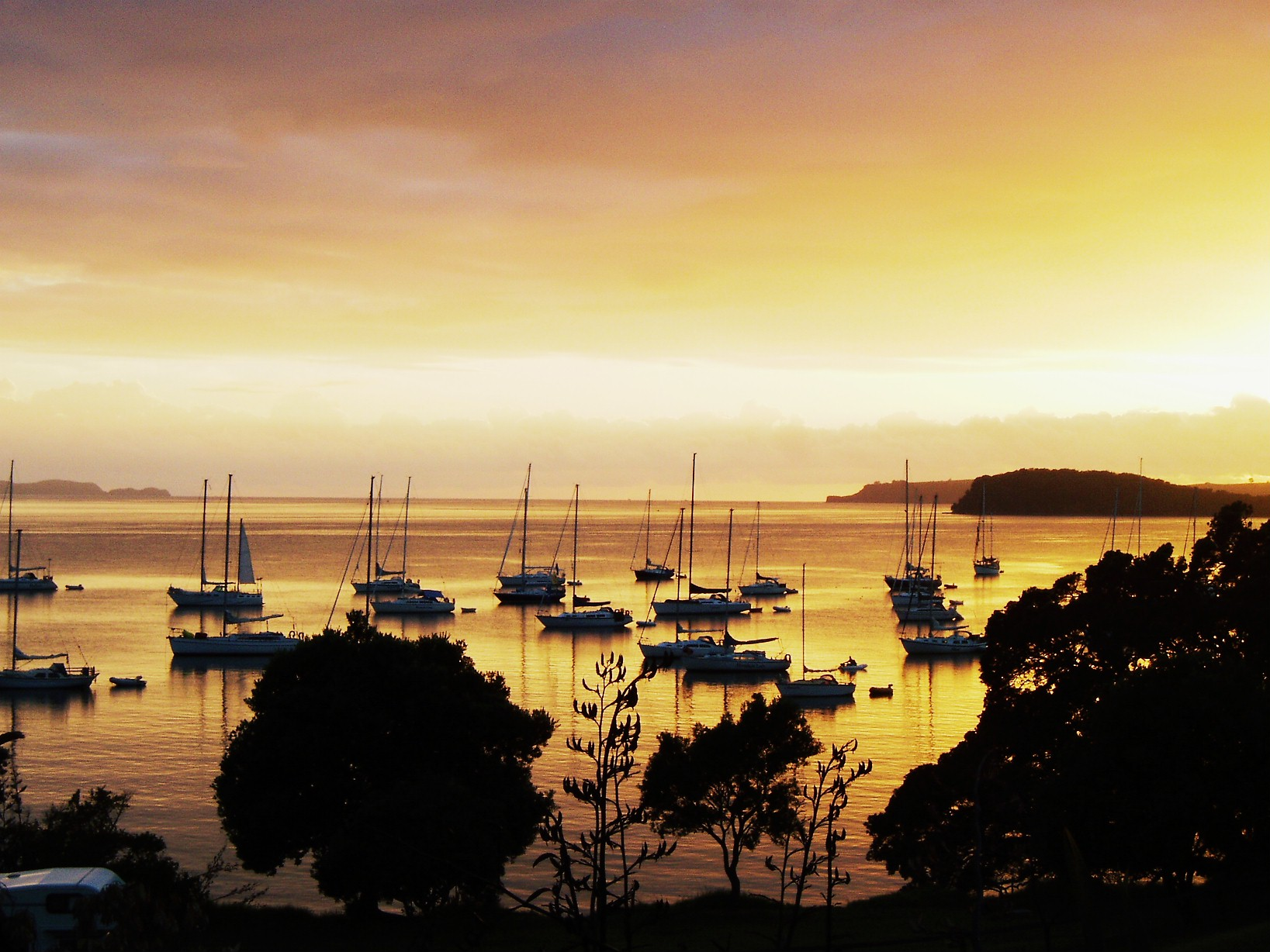 Sunrise at Mahurangi West, North Auckland.