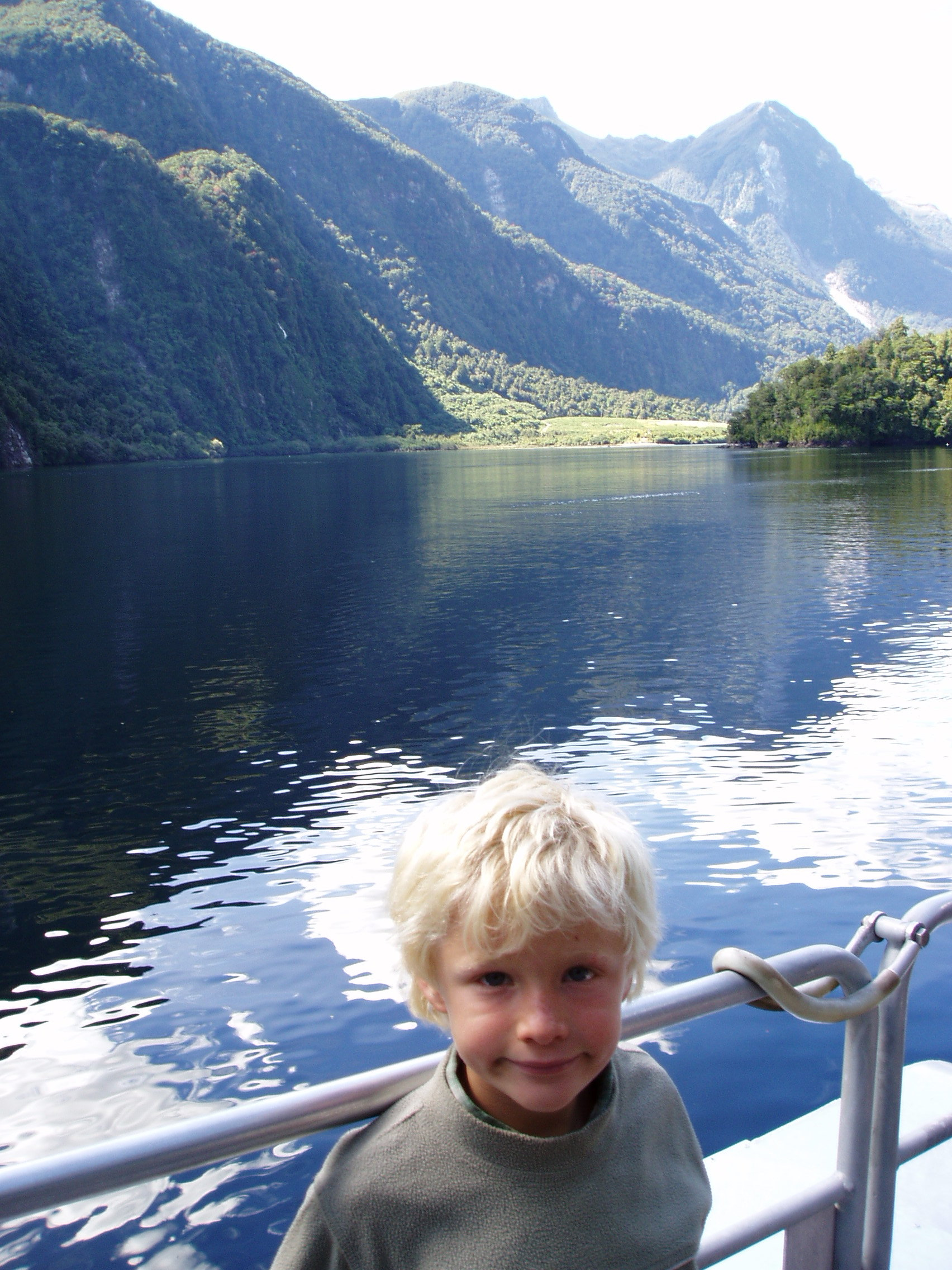 Joe at the Start of Doubtful Sound Cruise, 2004.