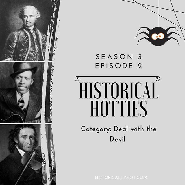 Meet us at the crossroads to light a fire and talk about people in history who are A) hot and B) allegedly sold their souls for skill and profit. Join us and guest host Daniel (@puffinwatch) of Heroes Rolling Zeroes as we pit The Comte de Saint Germain against Robert Johnson and Niccolò Paganini.  #history #podcast #ladypodsquad #podernfamily #historypodcast #historicalfigures