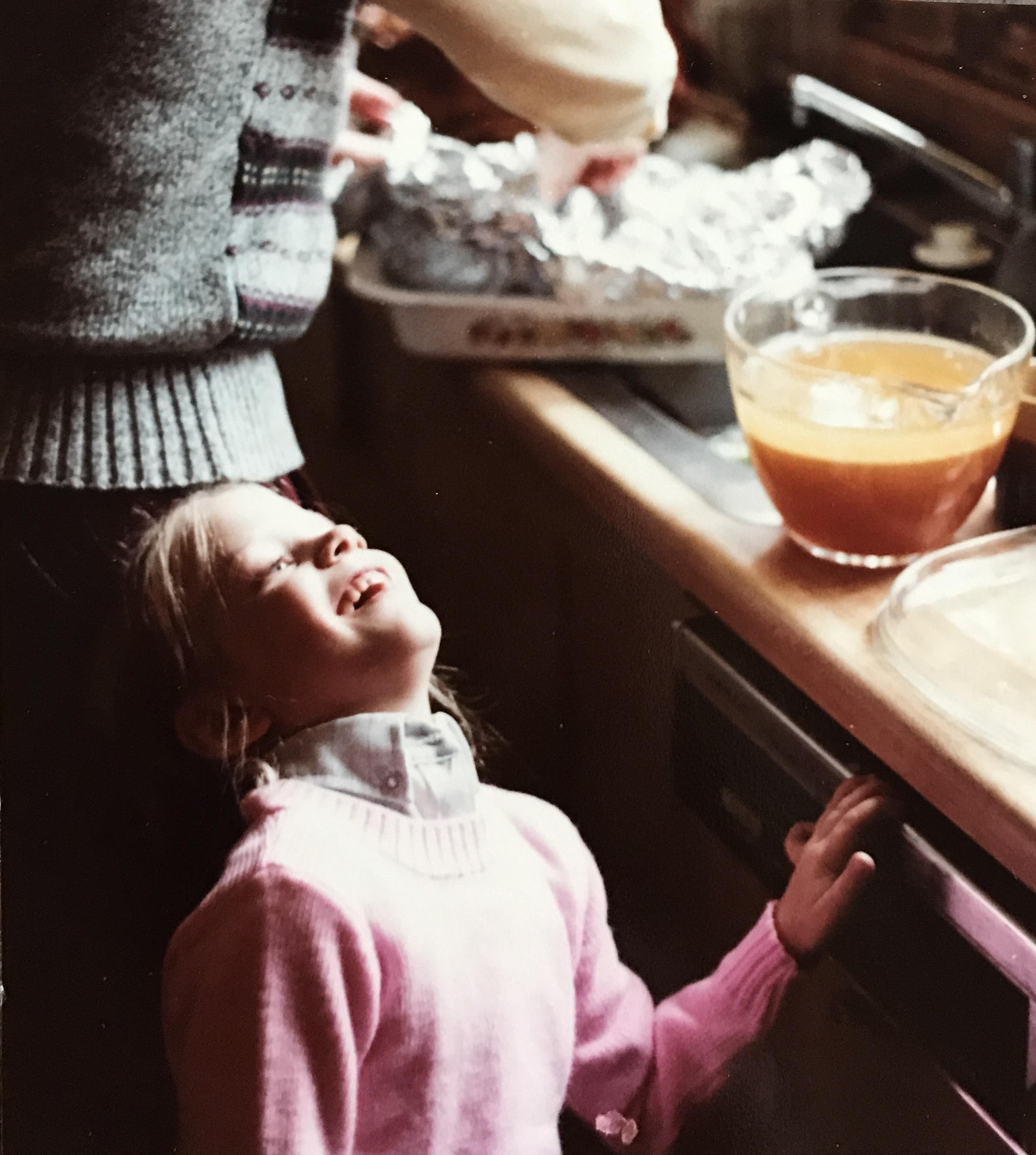 Me(7), in my Grandma's kitchen