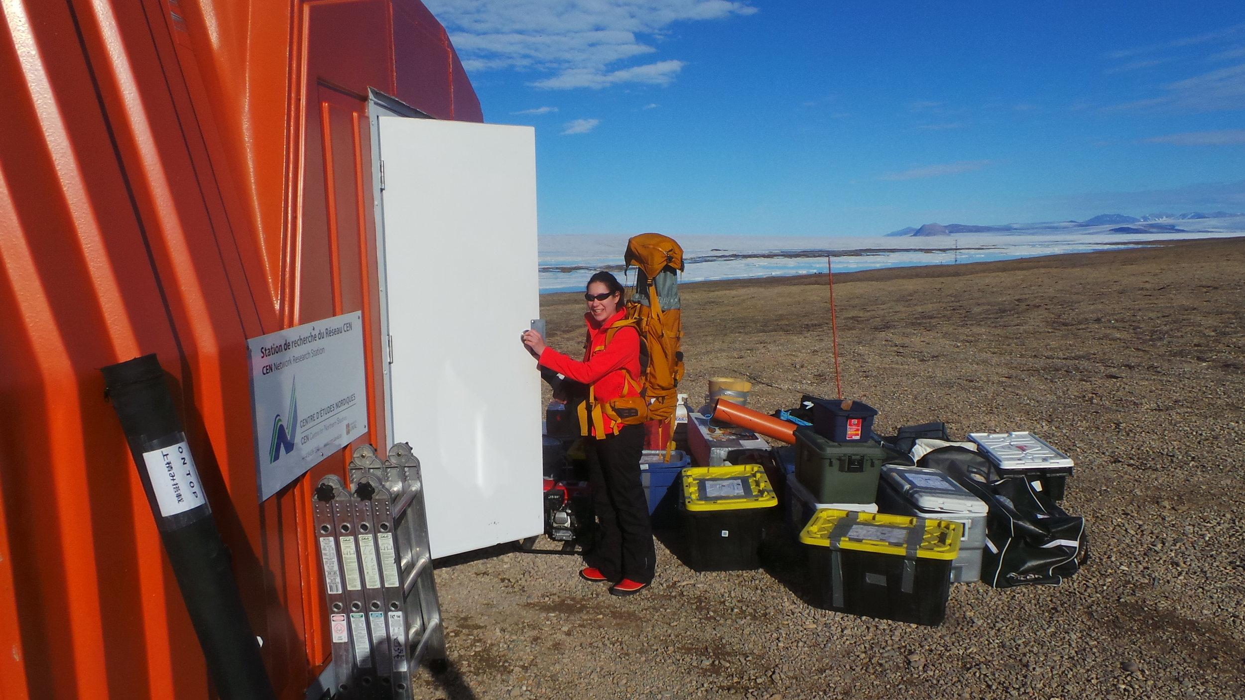 Myriam Labbé ready to work on Ward Hunt Island