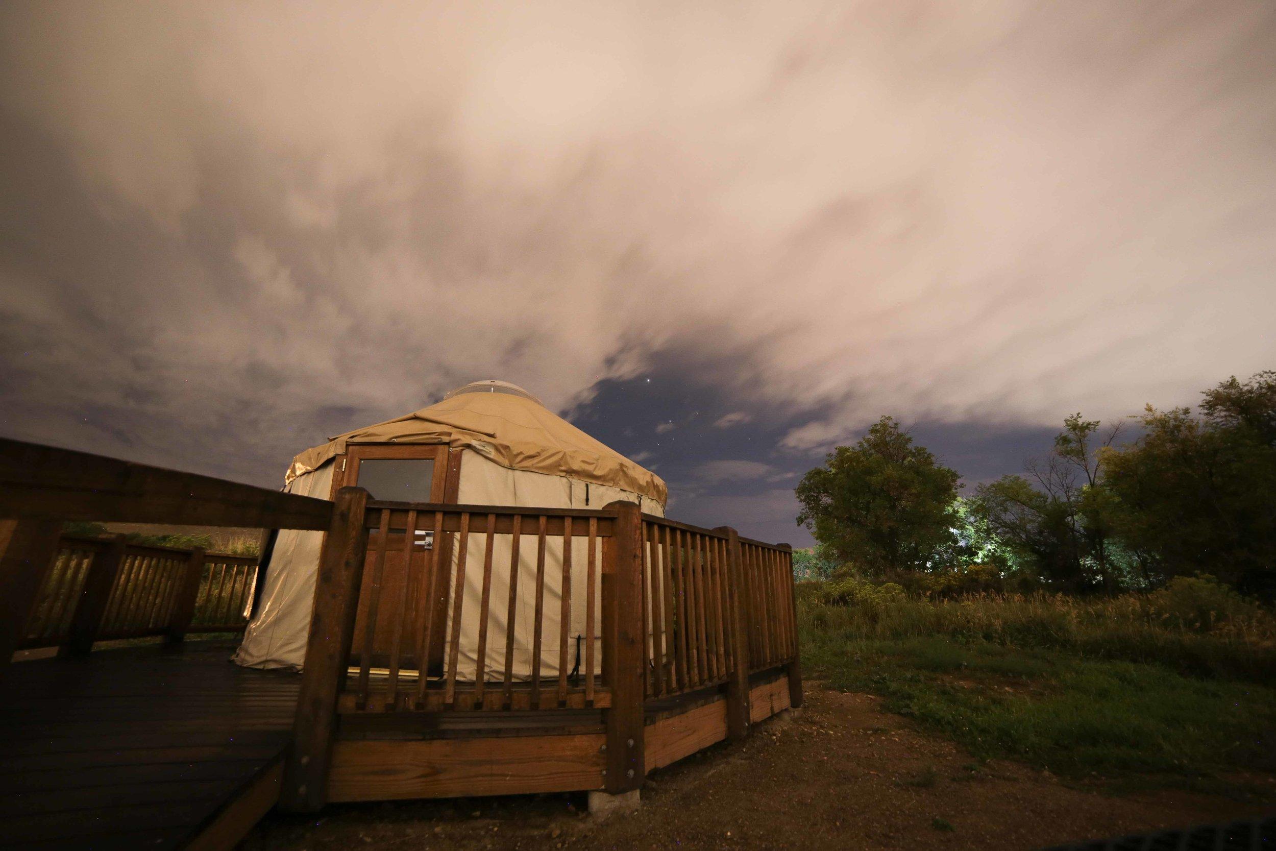 Yurt rental at Indian Paintbrush, Morrison, Colorado