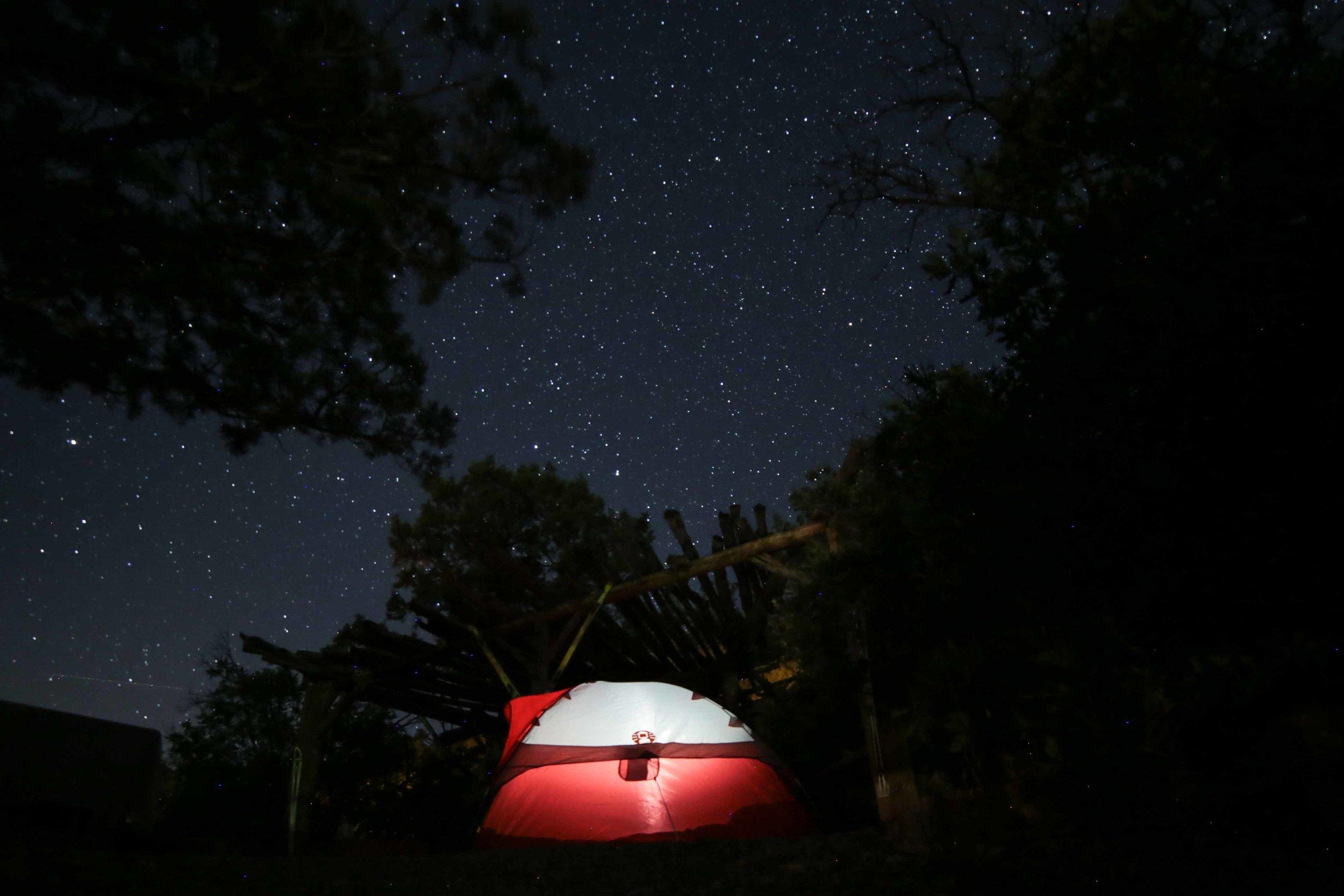 Camping under the star at  Ami's Acres  in Colorado Springs, Colorado