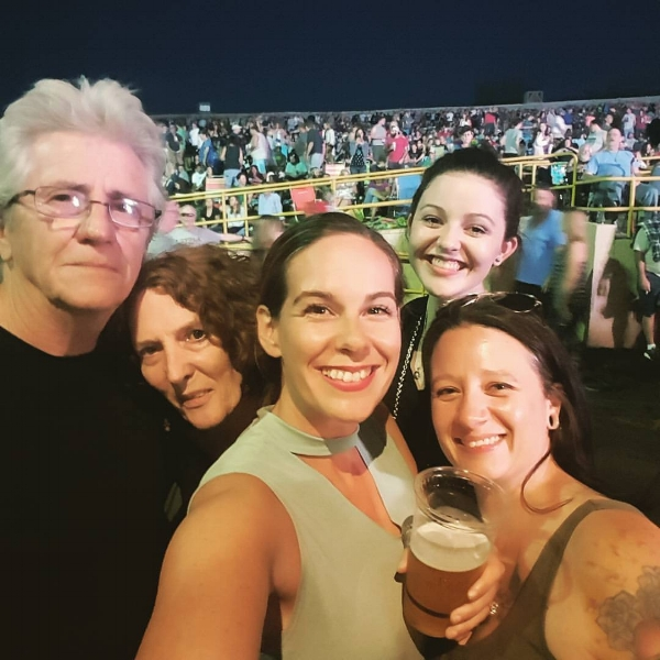 Seeing Tom Petty with family