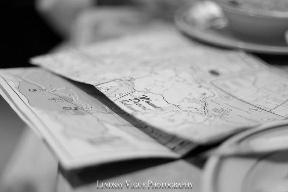 Map reading in Acadia, Maine