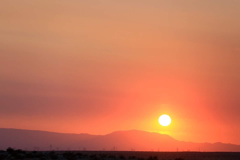 The Vegas desert sunset