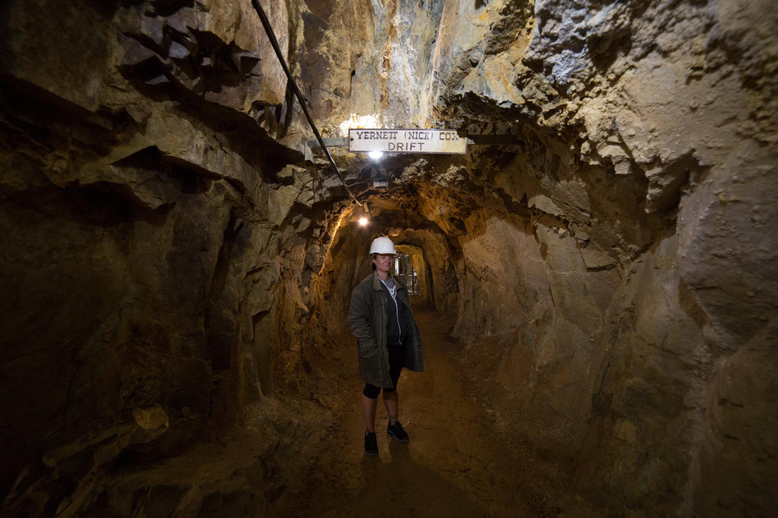 1,000 feet underground at the Mollie Kathleen Gold Mine