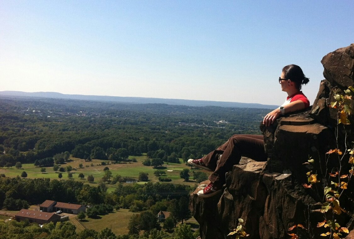 Living on the edge in Connecticut at  Chauncey Peak