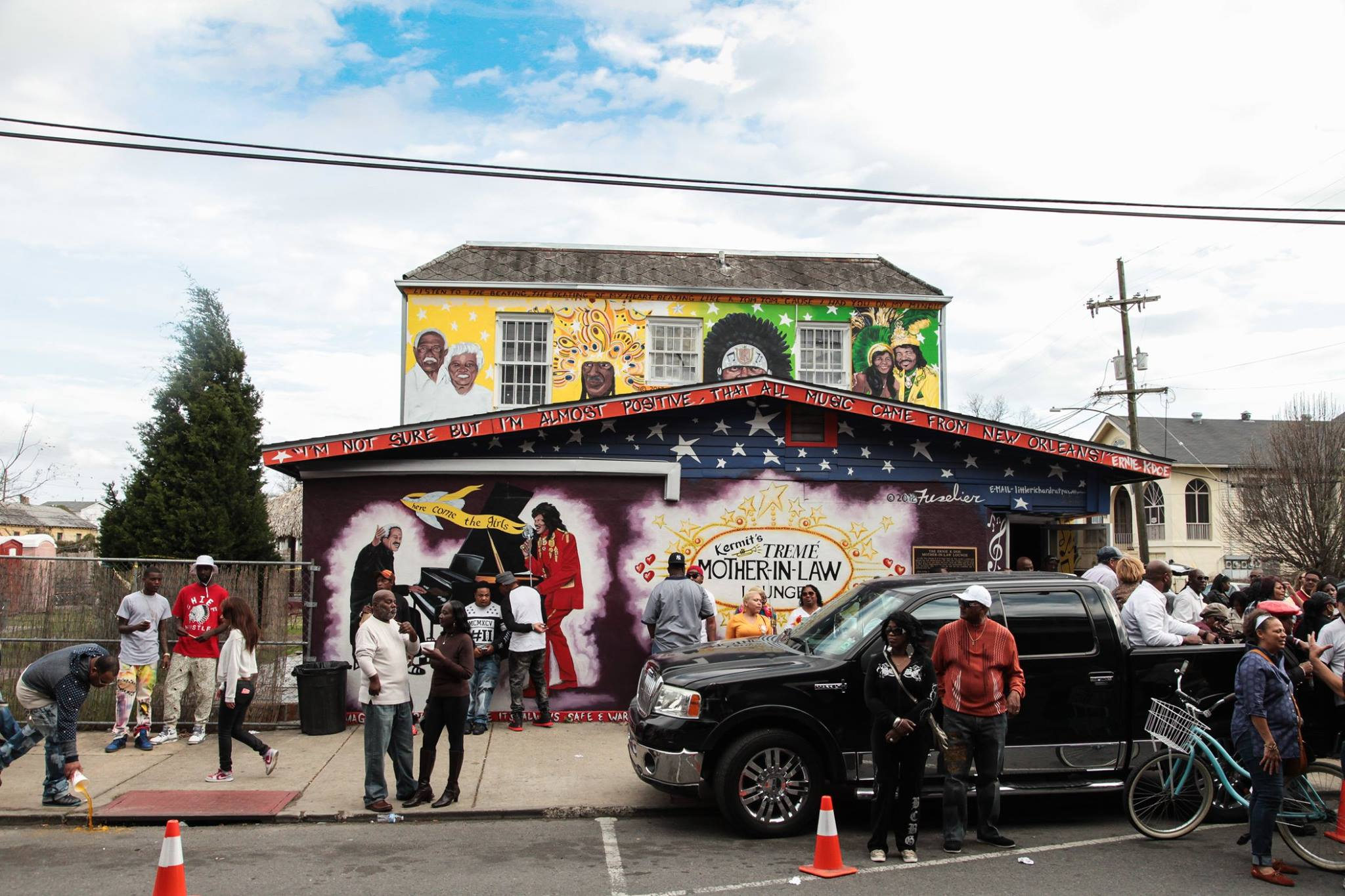 Outside  Kermit's Treme Mother-In-Law Lounge