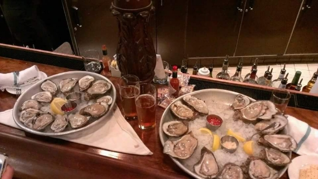 Happy Hour Oysters at Luke