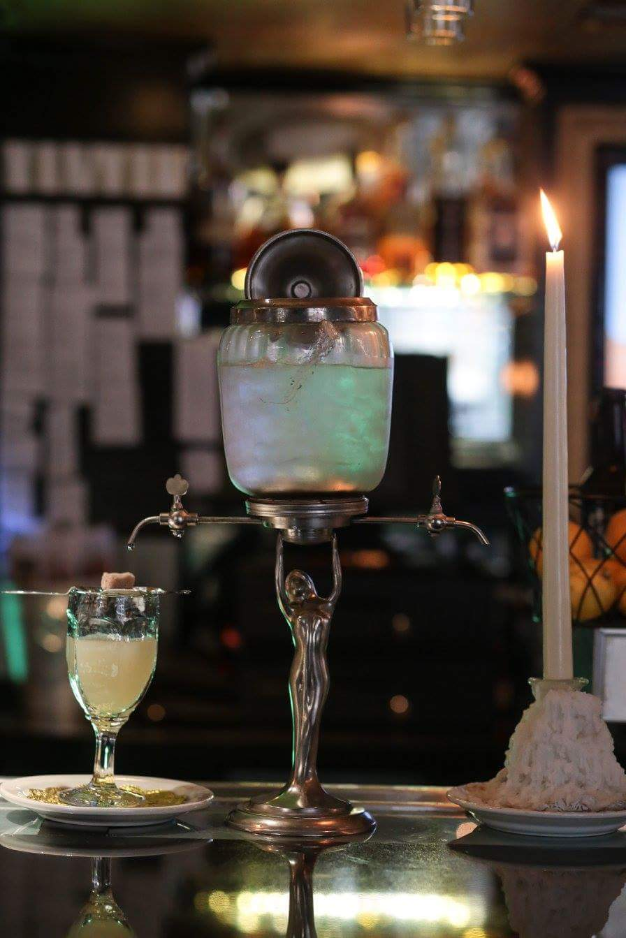 The Bourbon O Bar's Absinthe drip set