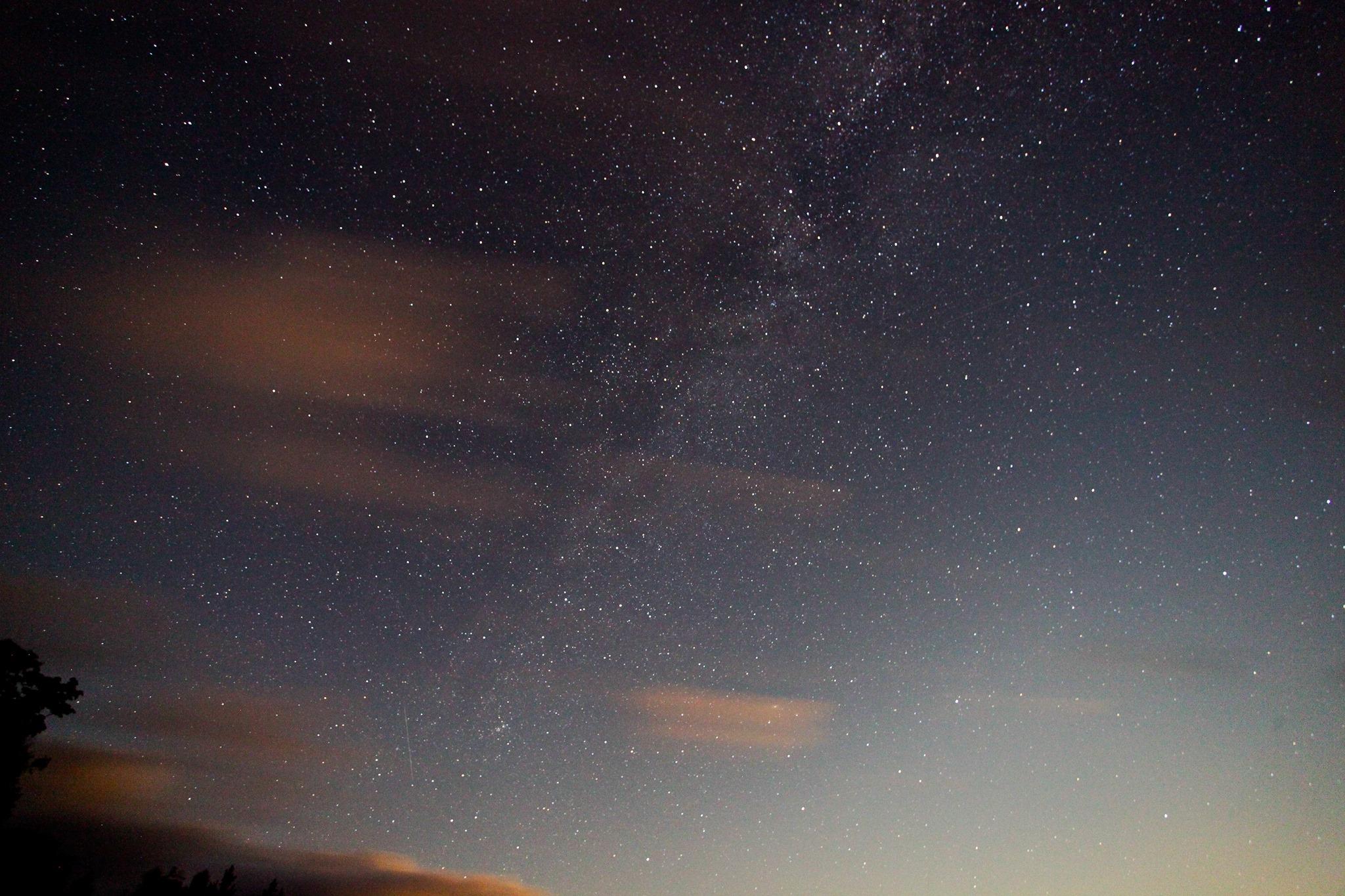 Cherry Springs, Pennsylvania, 2014. Lindsay's first astrophoto