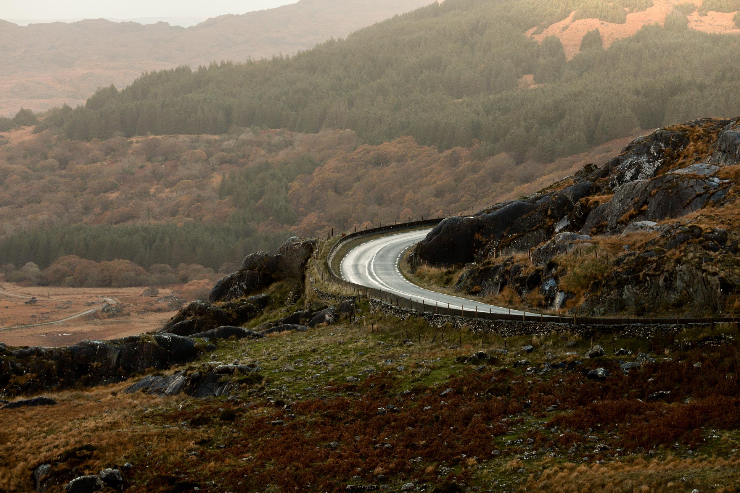 Winding roads in Killarney National Park
