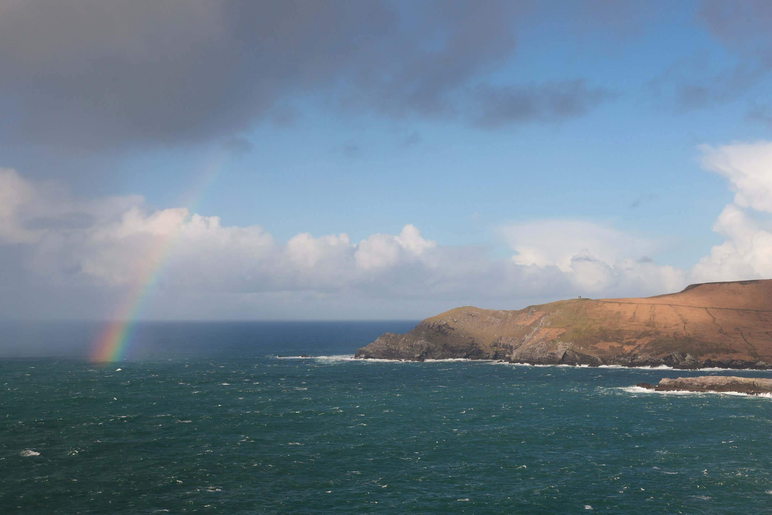 Rainbow over Kerry Cliffs